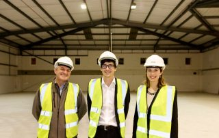 Nick Adkins, Contracts Manager at JCA; Dr Harry Destecroix, Director at Unit DX; Monika Radclyffe, Centre Director at SETsquared