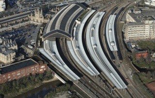 Bristol Temple Meads aerial view