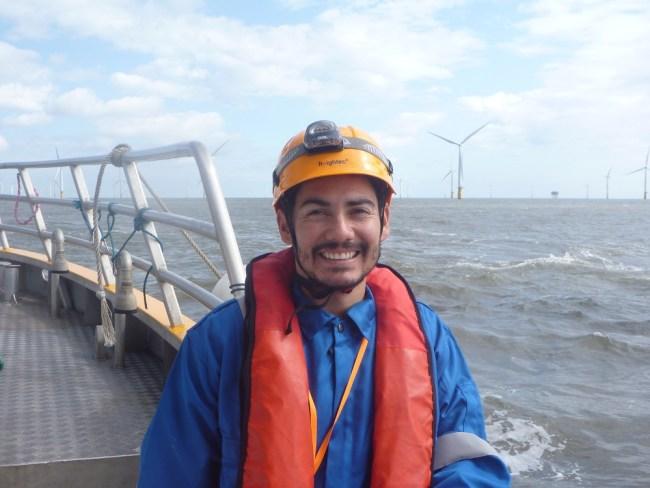 Fernando on a boat