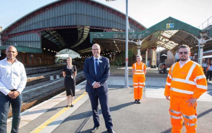 Mayor Marvin Rees stood on platform at Temple Meads Station