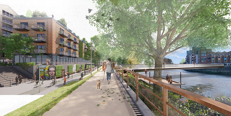 St Philips Marsh South Riverside View - Artist Impression