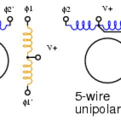 Wiring Diagram For Forward Reverse Single Phase Motor Ba Falcon Alternator Arduino Unipolar Stepper Control Diagrans