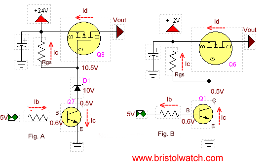 common base configuration circuit diagram 12v led strip wiring p-channel power mosfet switch tutorial