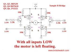 HBridge Motor Control Using Power MOSFETS
