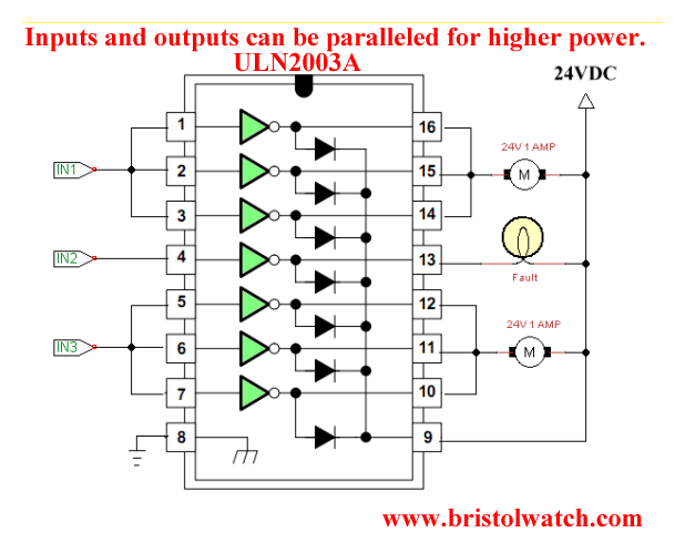 Schematic Diagram Together With Bipolar Stepper Motor Driver Circuit