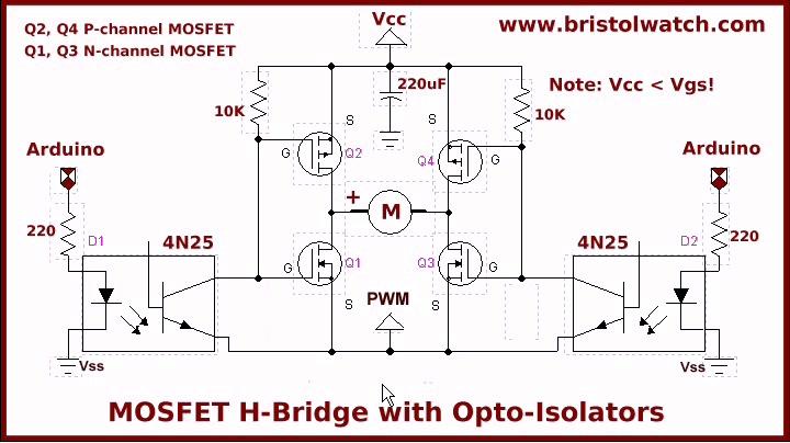 h bridge circuit diagram mosfet