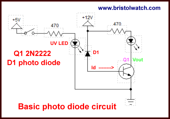led light circuit diagram for dummies cat 5 wiring uk photodiode op amp circuits tutorial my basic test