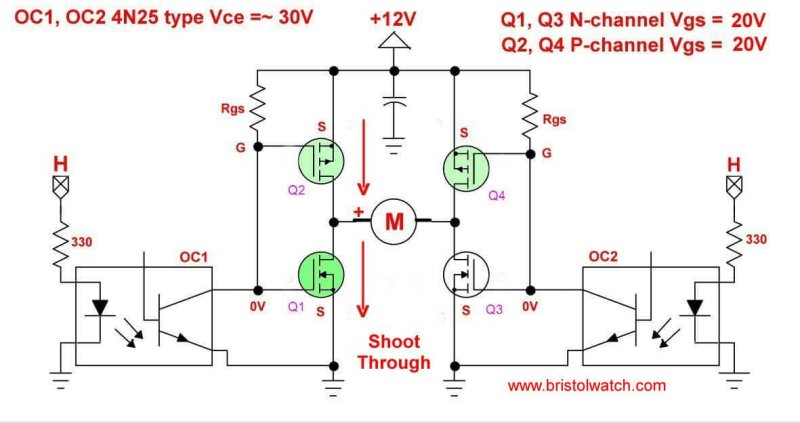 Input Hbridge Circuit Using Power Mosfets
