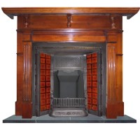 Antique Victorian Cast Iron Fireplace Insert for Tiles.