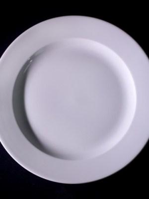 "White China Plate 9 "" Alchemy"