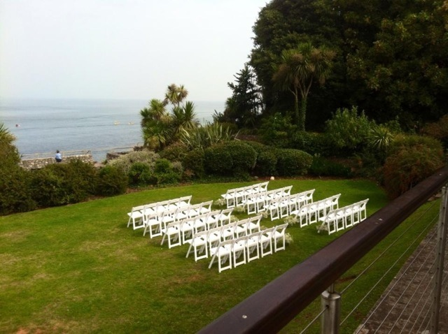 white folding chair hire 4