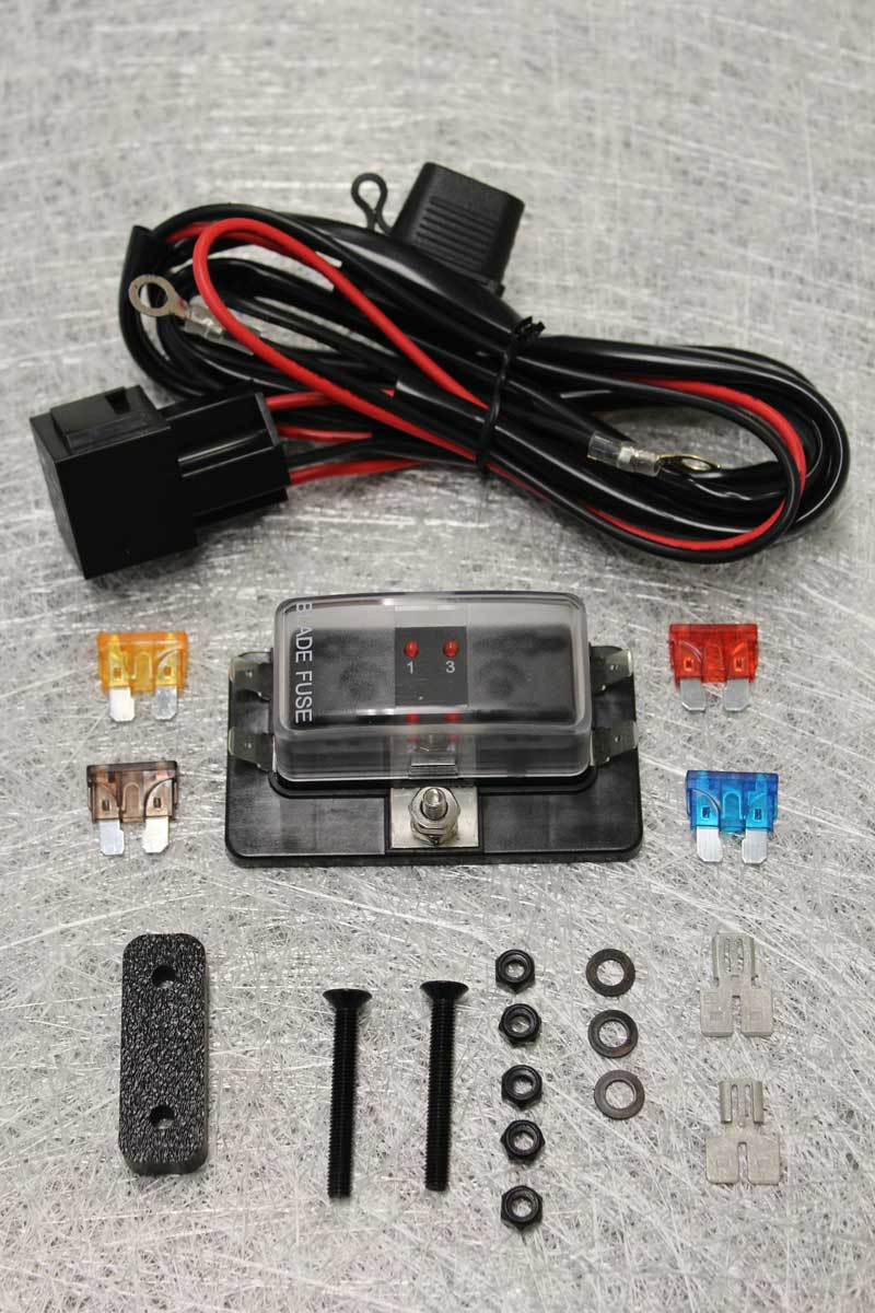 hight resolution of the fuse box harness relay is activated when the ignition is switched on and the wiring is entirely plug n play the kit includes double terminals to