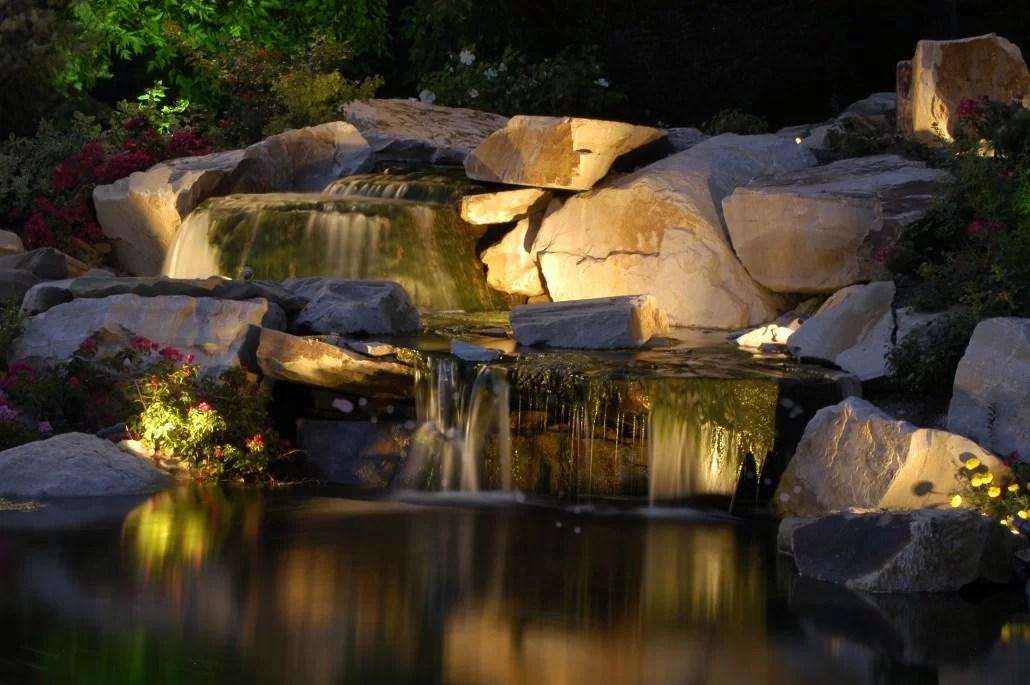 Professional Water Feature  Pool Lighting  Utah  Brite