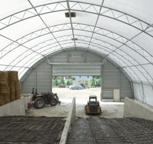 65' x 126' Fabric Structure Hay Storage Building