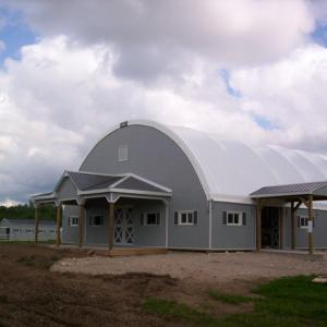 Riding Arena with Gable Entry