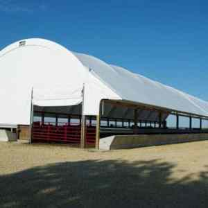 Beef Barn with Feed Bunk