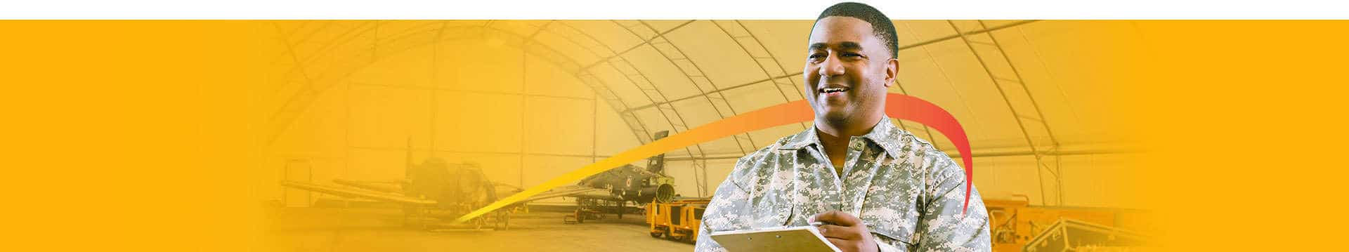 Britespan fabric buildings provide temporary buildings when military structures are needed fast.