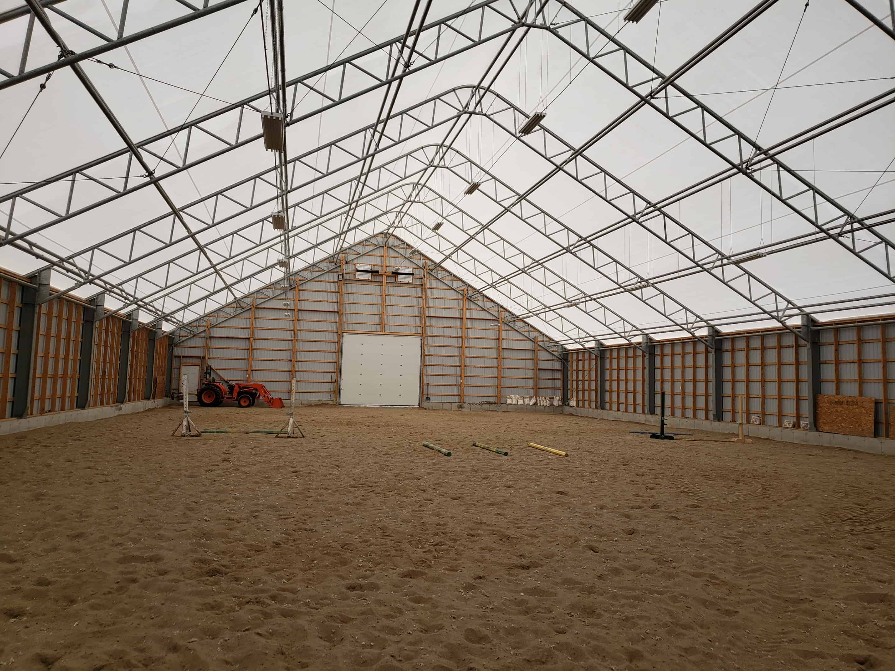 Over the Moon Farm 80' x 180' Fabric Building Indoor Riding
