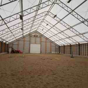 Over the Moon Farm 80' x 180' Fabric Building Indoor Riding Arena