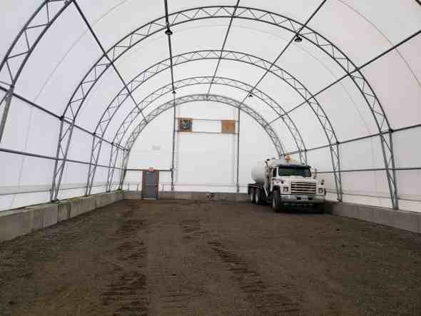 City of Belleville 41' x 98' Fabric Building for Warehousing and Storage