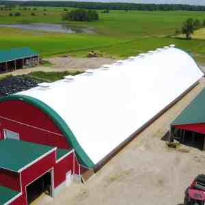 Tenhove Farms 62' x 220' Fabric Building Dairy Barn