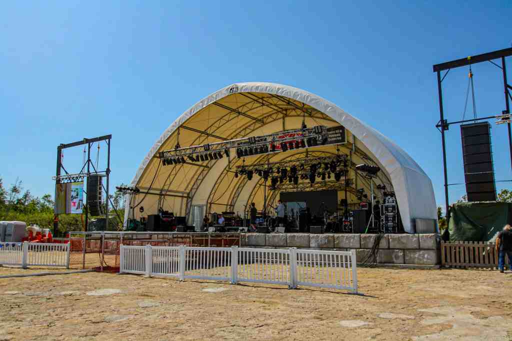 Manitoulin Country Fest Fabric Structure Entertainment Stage