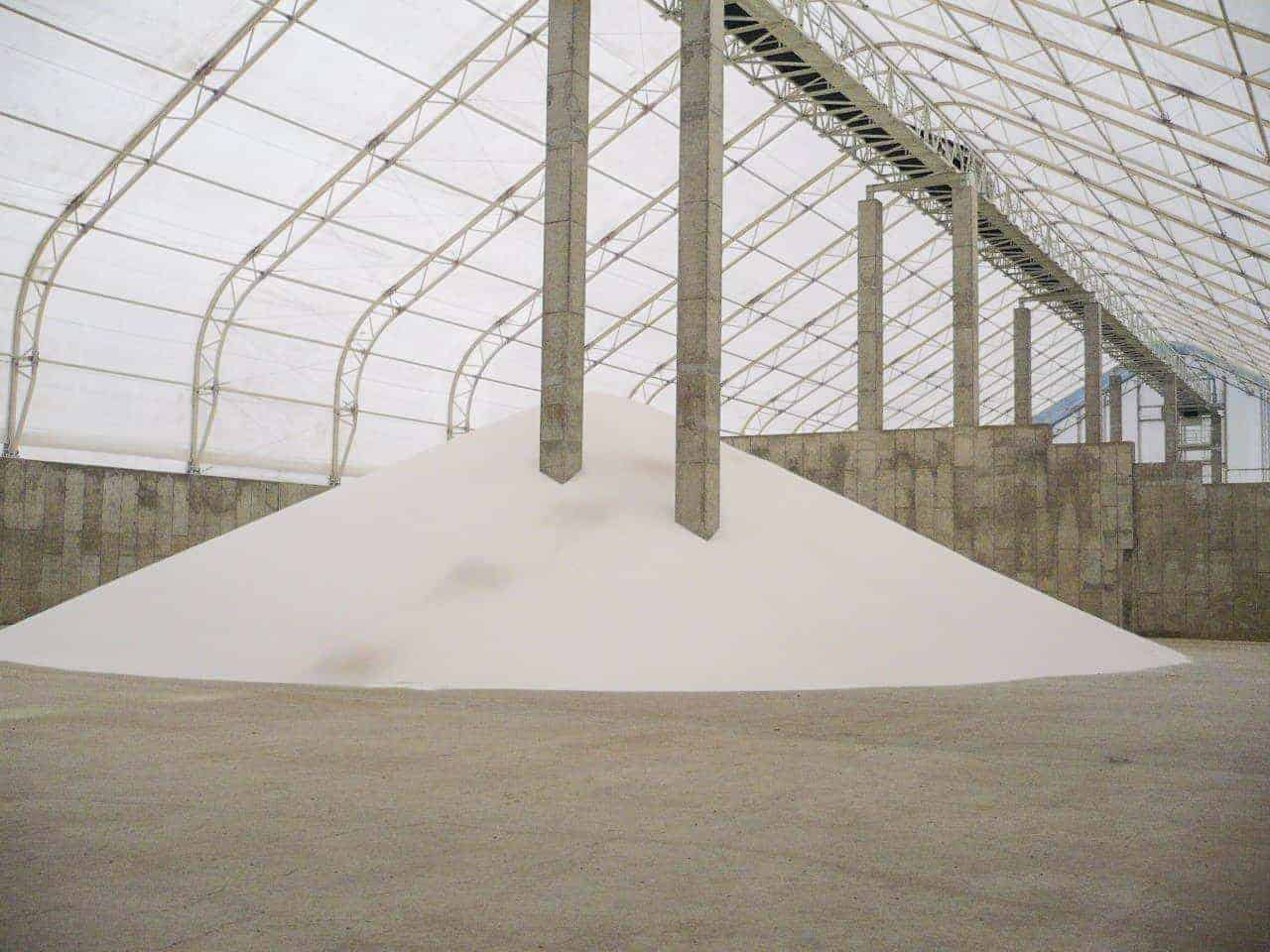 commodity fabric building for fertilizer storage
