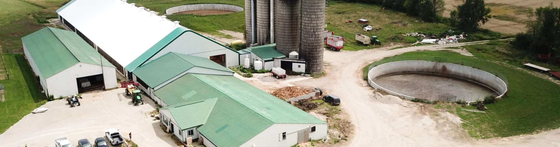 Dairy Barns & Dairy Cattle Barns built with Britespan Fabric Buildings