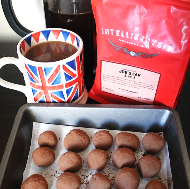 Coffee ganache truffles from britinthesouth.com