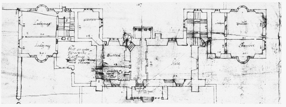 Plate 41: Cranborne, The Manor House, Early plans