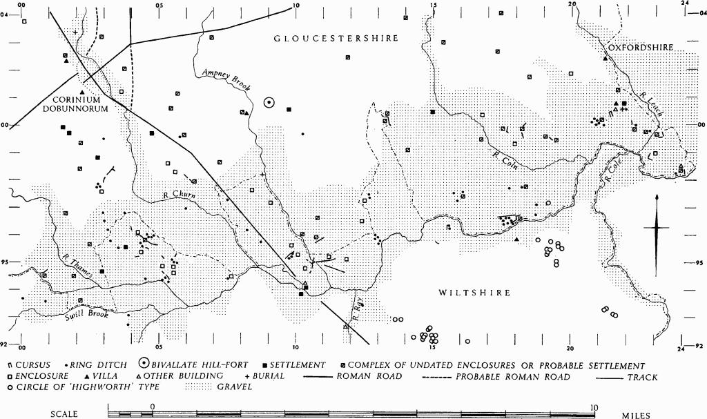 Map of Prehistoric and Roman Monuments of the Upper Thames