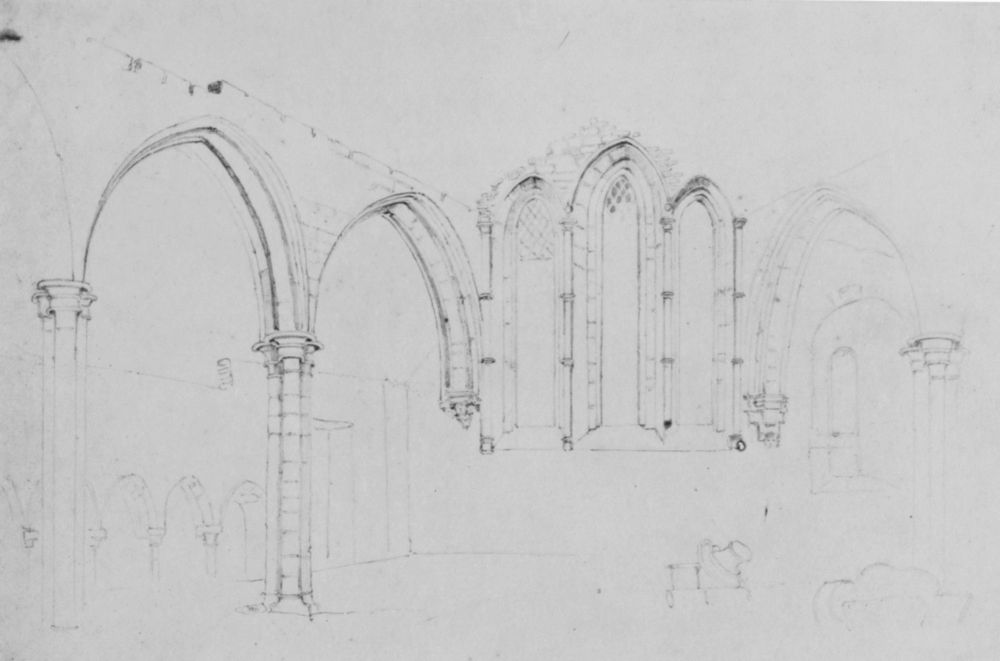 Plate 145: Ouse Bridge, St. William's Chapel. Drawings by