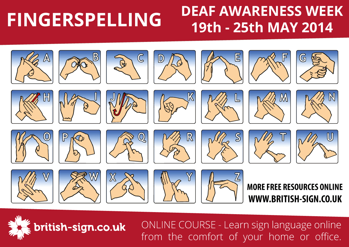 Deaf Awareness Week Learn British Sign Language