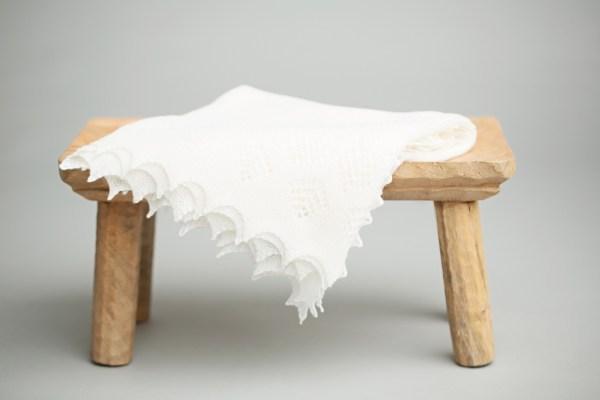 Super-fine Merino wool shawl by G.H.Hurt & Son on Bench