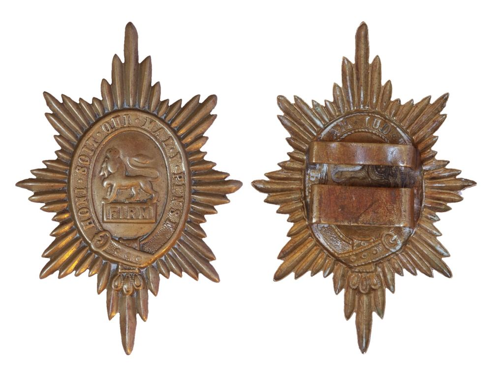 Worcestershire Regiment Brass Valise Badge