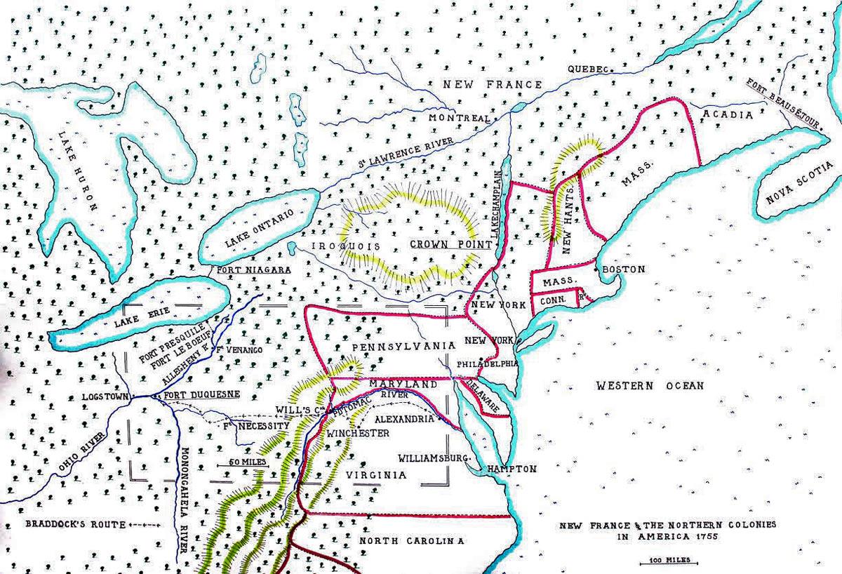 General Braddock S Defeat On The Monongahela In Part 2