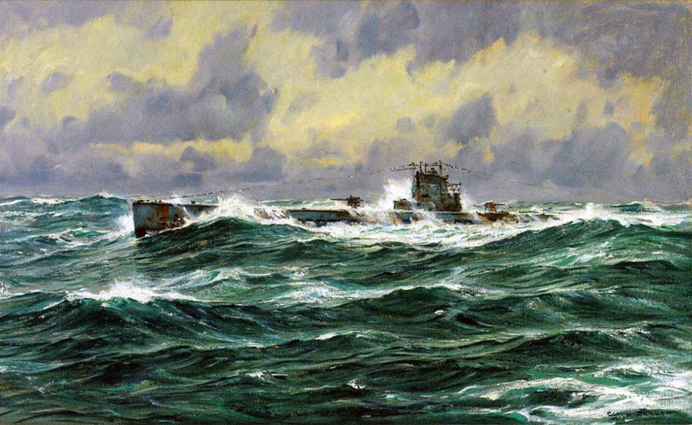 medium resolution of german u boat at sea in the first world war picture by claus bergen