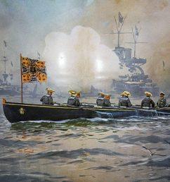 kaiser wilhelm ii inspecting the imperial german high seas fleet before the first world war  [ 1200 x 900 Pixel ]