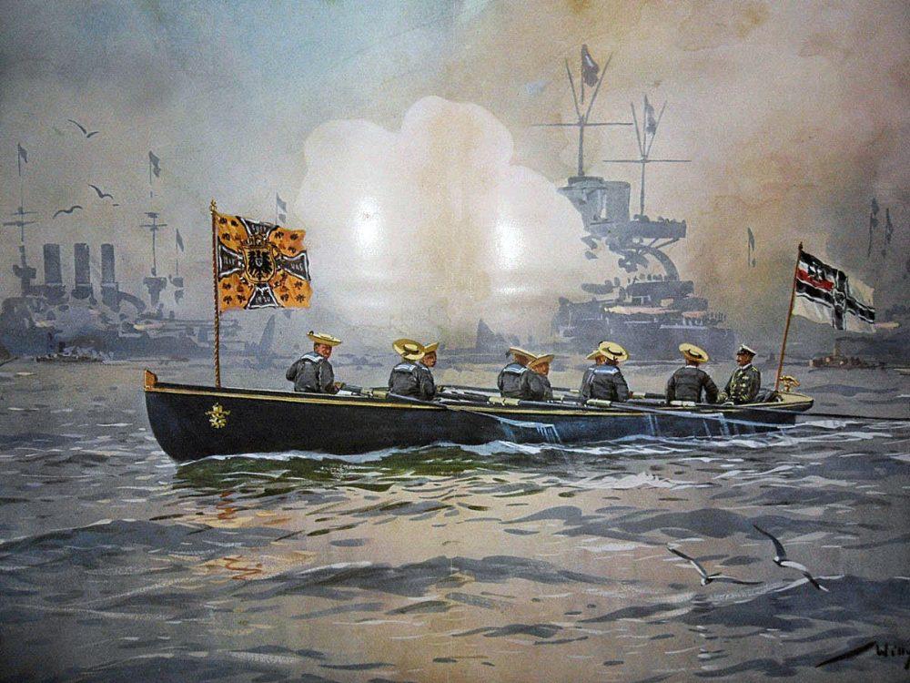 medium resolution of kaiser wilhelm ii inspecting the imperial german high seas fleet before the first world war