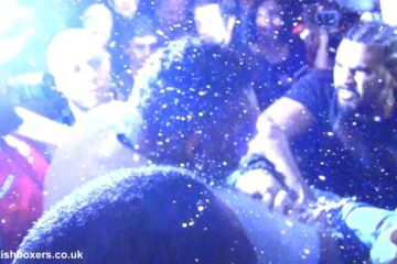 Haye chisora press conference fight brawl