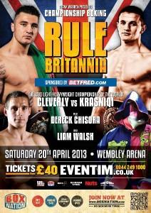 rule britania boxing show frank warren dereck chisora