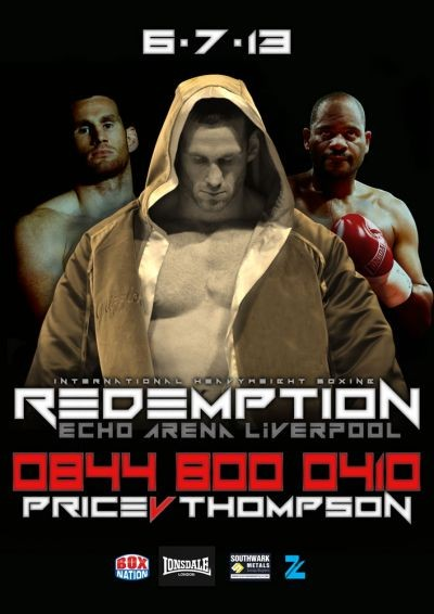 david price v Tony Thompson 2 fight poster