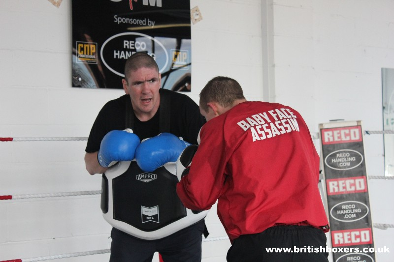 arnie on pads with paul butler