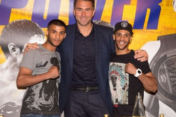 Gamal Yafai, Eddie Hearn and Kal Yafai