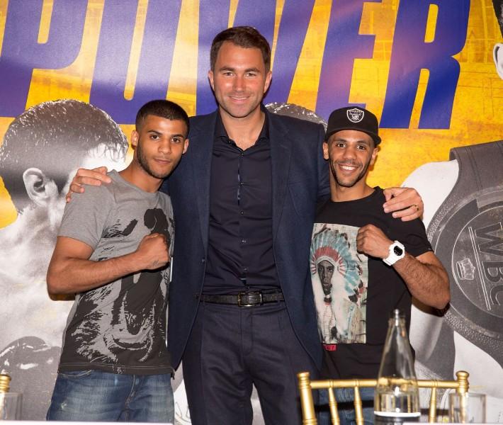 Gamal Yafai, Eddie Hearn and Kal Yafai