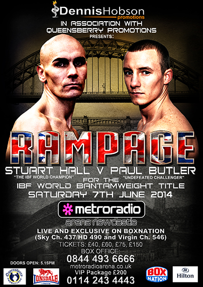 dennis-hobson-poster rampage boxing show newcastle