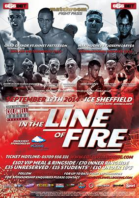 coldwell in the line of fire boxing show poster