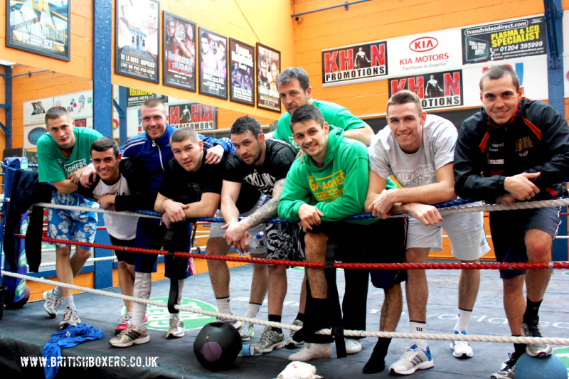 Gallaghers Boxing Gym team squad pic