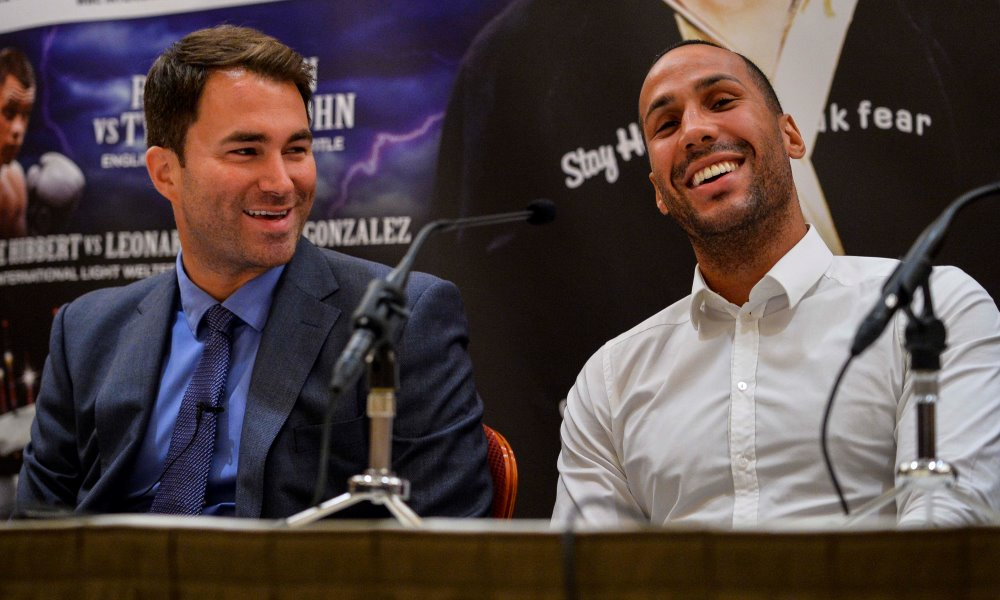 James DeGale MBE with Eddie hearn