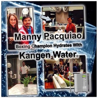 manny pacquiao drinks kangen hydrogen rich water PH 9.5